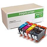 Inkjetcorner Compatible 5 Pack Ink Cartridges plus version 2 Chip for CANON PGI-250 CLI-251 Pixma MG5620 MG6620 MG7520