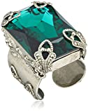 "Sorrelli ""Emerald City"" Large Cut Crystal Adjustable Ring, Size 7-9"