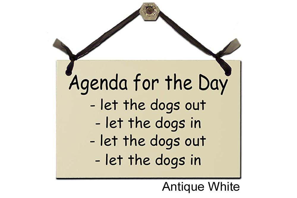 Amazon.com: Agenda for the Day - let the dogs out - let the ...