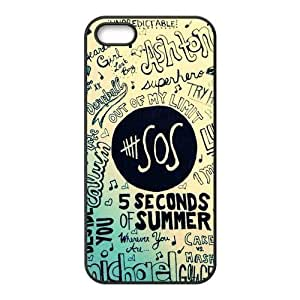 5sos Hard Phone Cover Case for iPhone 5,5S Cases Designed by HnW Accessories