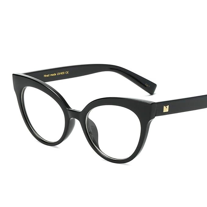 5b903a6fda4 Non-prescription Glasses Frame for Women Clear Lenses Eyewear Vintage Cateye  (Black