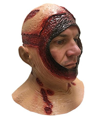 Fancy Dress Latex Masks (BLOODY HOOD MASK Overhead Latex Jason Halloween Horror Movie Fancy Dress Masks)