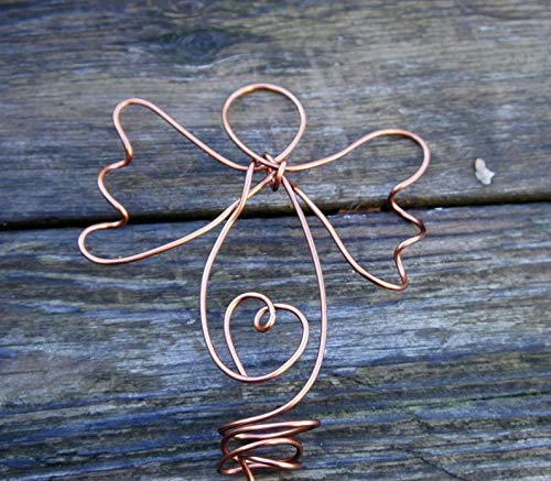 Copper Tree Topper Angel For Christmas Decorating Home or Office