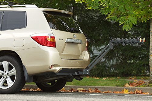 """Amazon.com: Softride Element 4-Bike Rack, Receiver Hitch Mounted Bike Carrier, for 2"""" and 1.25"""", Swings Down With Bicycles Loaded, Allows Trunk, Hatch, or Tailgate Access; fits Cars, SUVs, Vans, or Trucks. (26248): Sports & Outdoors"""