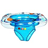 Shirely Baby Double Baby Airbags Floating PVC Inflatable Baby Swim Float Seat Swimming Ring (Dark Blue)