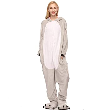 SXSHYUAR Lindo Unisex Adulto Animal Pijama, Gris Koala Cosplay ...
