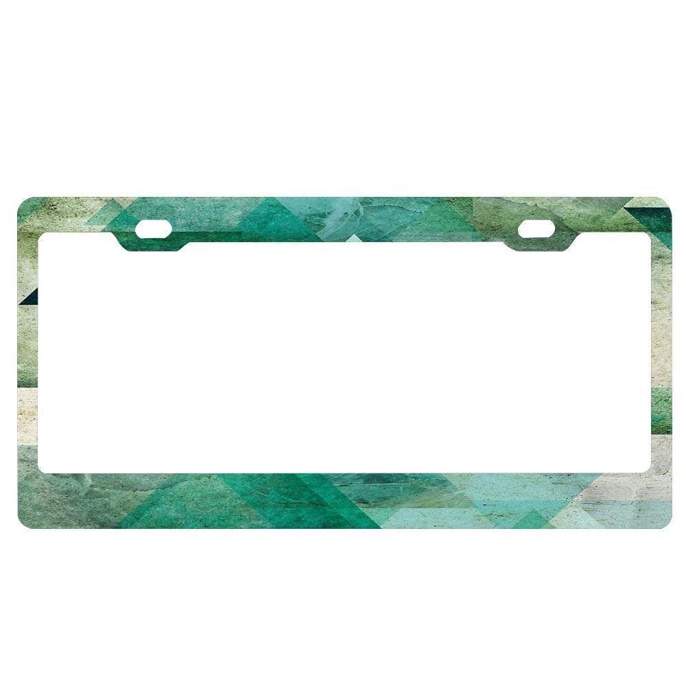 Personalized License Plate Frame Aluminum Decorative Car Plate Frame Outdoors Auto License Plate Frame