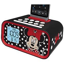 Minnie Mouse Dual Alarm Clock Speaker System, DM-M23