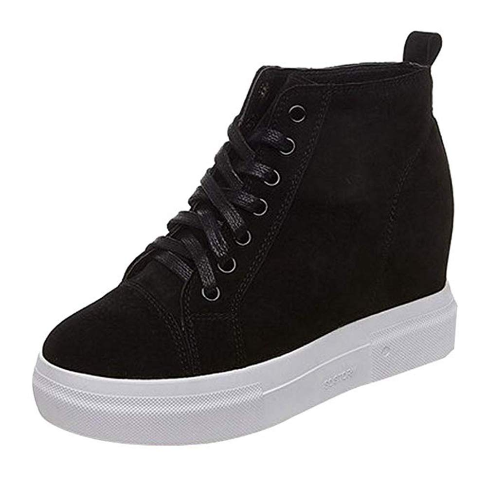 T-JULY All Season Women Running Shoes Female Sports Hidden Heels Platform Wedges Sneakers Outdoor Walking Shoes