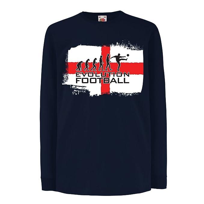 lepni.me Niños Niñas Camiseta La Evolución de Fútbol - Inglaterra ... 7f37cfb468002