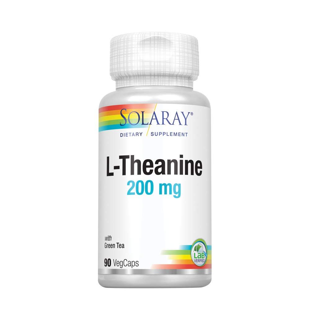 Solaray L-Theanine Supplement, 200 mg, 90 Count