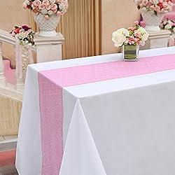 """TRLYC 13""""108"""" Blush Pink Wedding Sequin Tablerunner"""