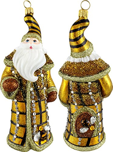 Joy To The World Beehive Jeweled Santa Ornament by, fun bee ornaments for christmas