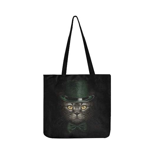 Hocico Oscuro Gato Corbata Sombrero Verde SHAOKAO SHAOKAO Bolso de ...