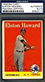 Elston Howard Topps 1958 Coa Signed Original Authentic Autograph - PSA/DNA Certified - Baseball Slabbed Autographed Cards