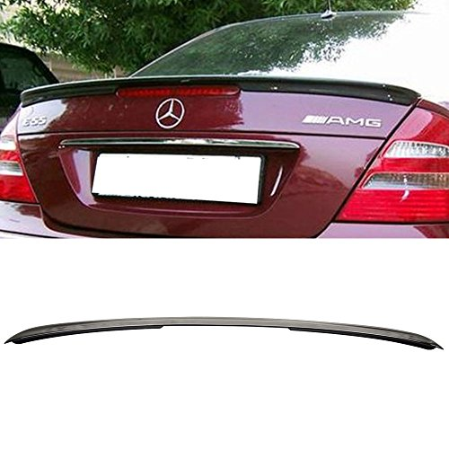 (Pre-painted Trunk Spoiler Fits 2003-2009 Benz E-Class | AMG Style ABS Painted # 040 Black Rear Tail Lip Deck Boot Wing Other Color Available By IKON MOTORSPORTS | 2004 2005 2006 2007 2008 )