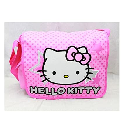 9c8ece4196ea Image Unavailable. Image not available for. Color  Sanrio Hello Kitty Stars  and Polka Dot Large Messenger Bag ...