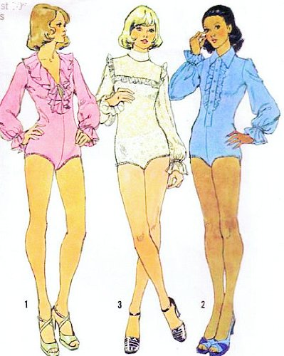 Simplicity 6042 Bodysuits with Snap Fastened Crotch Sewing Pattern Misses Size 14 (Bust 36), Designed for Stretch Knit Fabric Only Vintage 1973 ()