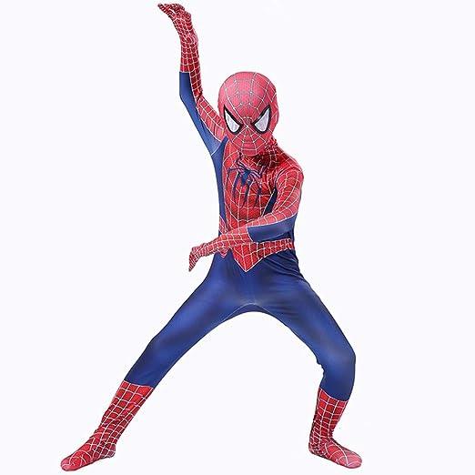 AKCHIUY Traje Spiderman Niño,Halloween Superhéroe Adultos ...