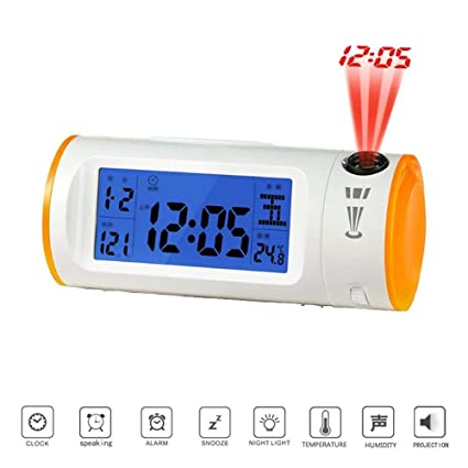 Amazon.com: Projection Alarm Clock, Voice-Activated ...