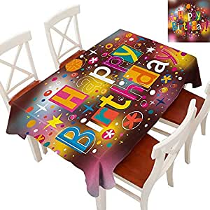 Amazon.com: WinfreyDecor Tablecloth Heavy Weight for