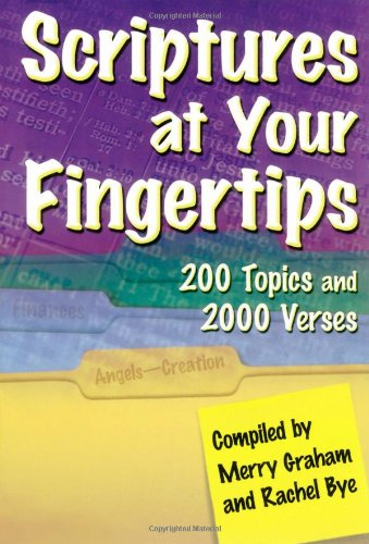 Download Scriptures at Your Fingertips: With Over 200 Topics and 2000 Verses pdf epub