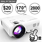 DR. J Professional 2800 Brightness Video Projector 1080P Full HD Supported Mini Projector, TV Stick, HDMI, VGA, USB, TF, AV, Sound Bar,...
