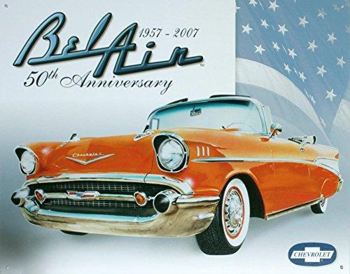 Chevy Bel Air 50th Tin Sign , 16x13 (Bel Air Tin Sign)