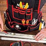 NoCry Heavy Duty Work Apron - 26 Tool Pockets, Tape