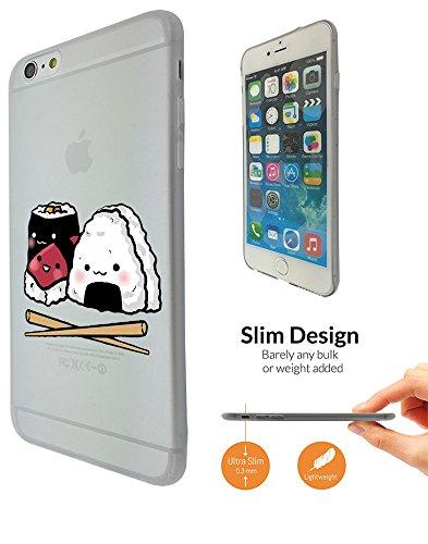 "C0873 - Cool Japanese Sushi Food Chopsticks Maki Design iphone 6 6S 4.7"" Fashion Trend Leichtgewicht Hülle Ultra Slim 0.3MM Kunststoff Kanten und Rückseite Protection Hülle - Clear"
