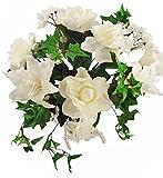 14'' Gardenia/Lily/Mini Ivy Wedding Bouquet - Cream
