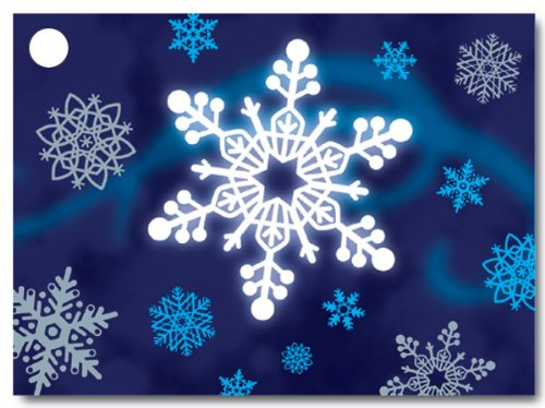 Winter Wonderland Theme Gift Cards3-3/4x2-3/4'' (30 unit, 6 pack per unit.) by Nas