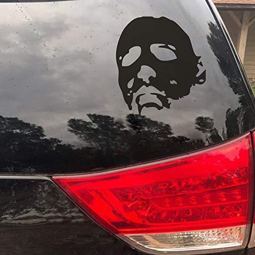 FlyWallD Michael Myers Halloween Halloween Horror Sticker White Car Window Vinyl Art Decal