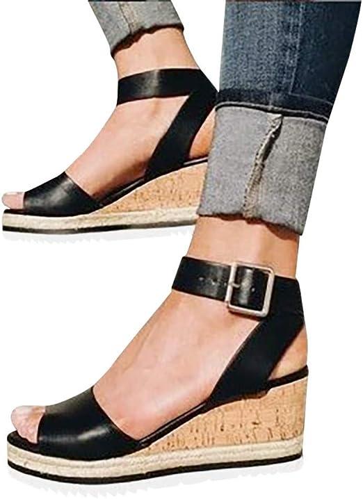 Gyouanime Women Ankle Strap Platform