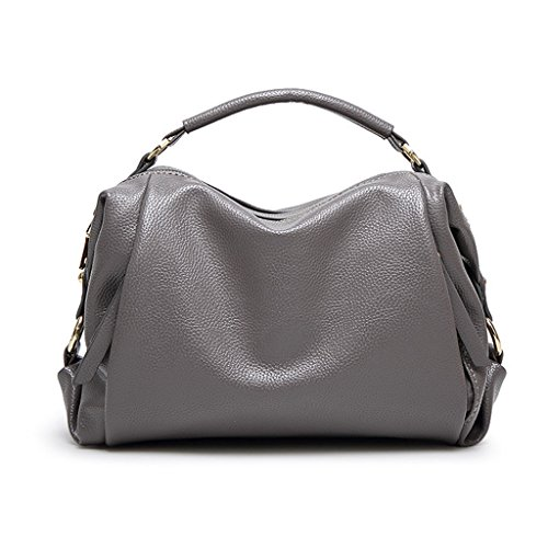 Gray de Fashion Bag Mujer Simple Red Cuero de Bolso Messenger Bolso Color OaqxB