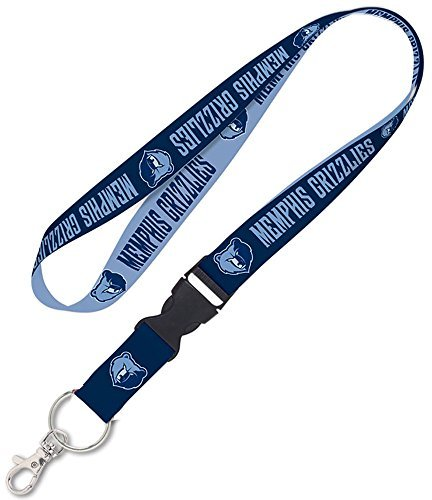 Memphis Grizzlies NBA 1 inch Wide Detachable Lanyard Keychain by WinCraft