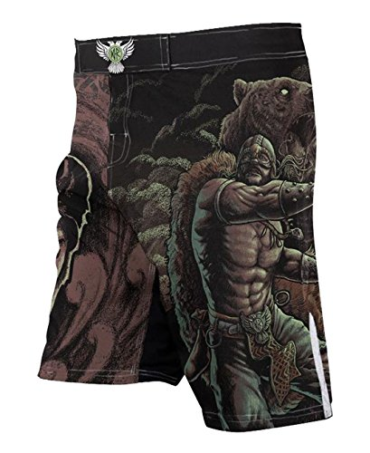 Raven Fightwear Men's Berserker MMA Fight Shorts 36 Waist Black