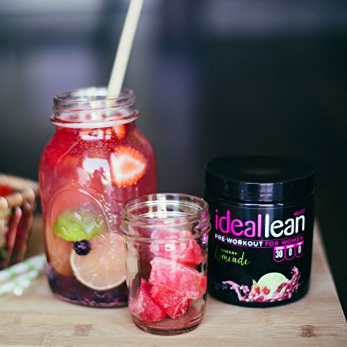 IdealLean, Pre Workout For Women, Cherry Limeade - Improve Energy, Endurance and Focus For Better Workout Performance - 30 Servings, 14.4 oz