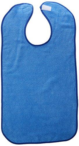 Terry Cloth Food (Sammons Preston Terry-Cloth Food Catcher, Pack of 3, Blue Jumbo Bib, 16