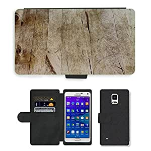 Hot Style Cell Phone Card Slot PU Leather Wallet Case // M00150180 Wood Structure Background Texture // Samsung Galaxy Note 4 IV