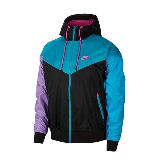 Nike Herren Windbreaker (L, BlackTeal): : Bekleidung