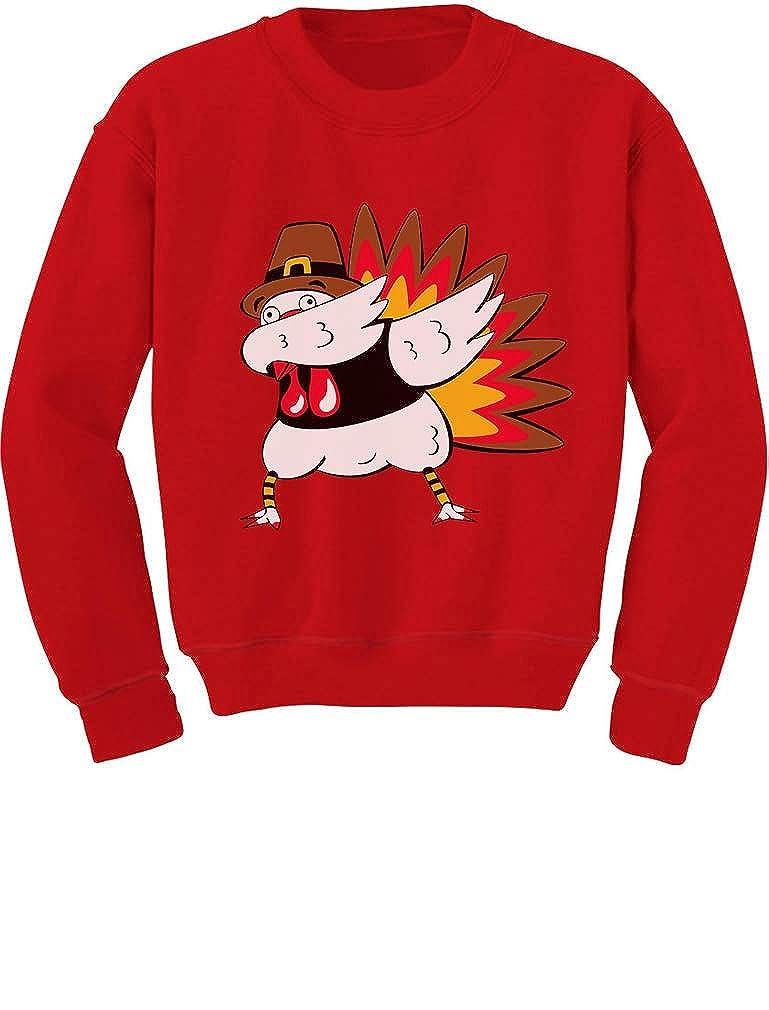 Tstars - Thanksgiving Funny Turkey Dab Dabbing Toddler/Kids Sweatshirt GaMPattgf5