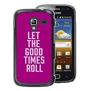 A-type Arte & diseño plástico duro Fundas Cover Cubre Hard Case Cover para Samsung Galaxy Ace 2 (Purple Pink Party College Text Spring Break)