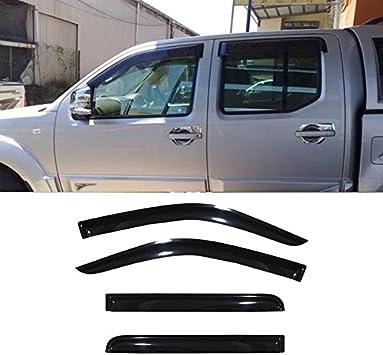 AUTEX 4Pcs Tape On Window Deflector Rain Guards Fits for 2000 2001 2002 2003 2004 2005 2006 2007 Chevrolet Silverado GMC Sierra 1500 2500 3500 Window Visor