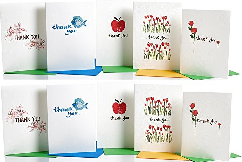 Thank You Cards Assortment ( pack of 10 ) Multipack from GayaCards, Express Your Gratitude with a Card!