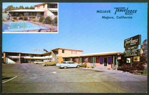 Mojave TraveLodge Hwy 466 & L St Mojave CA 2-view postcard 1950s