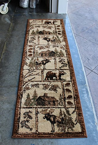 Cabin Style Area Rug Runner 2 Ft 2 In X 7 Ft 2 In
