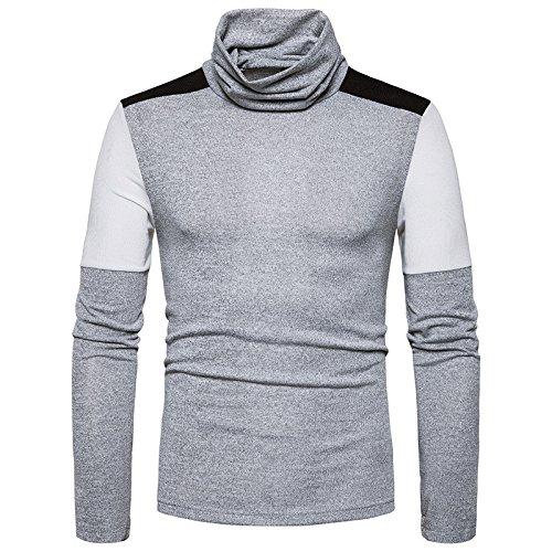 Gndfk männer Rollkragen - Pullover Pullover Slim Mode Farbe,hellgrau,XL