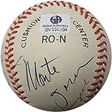 Bob Gibson Johnny Mize Perry Ernie Banks Bob Feller Hand Signed Baseball GA