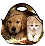 Best ICOLOR Kid Lunches - ICOLOR Cute kitten & Dog Kids Insulated Neoprene Review